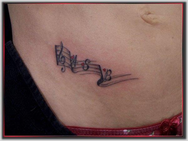 partition de musique monick art tattoo tattoo art monick. Black Bedroom Furniture Sets. Home Design Ideas